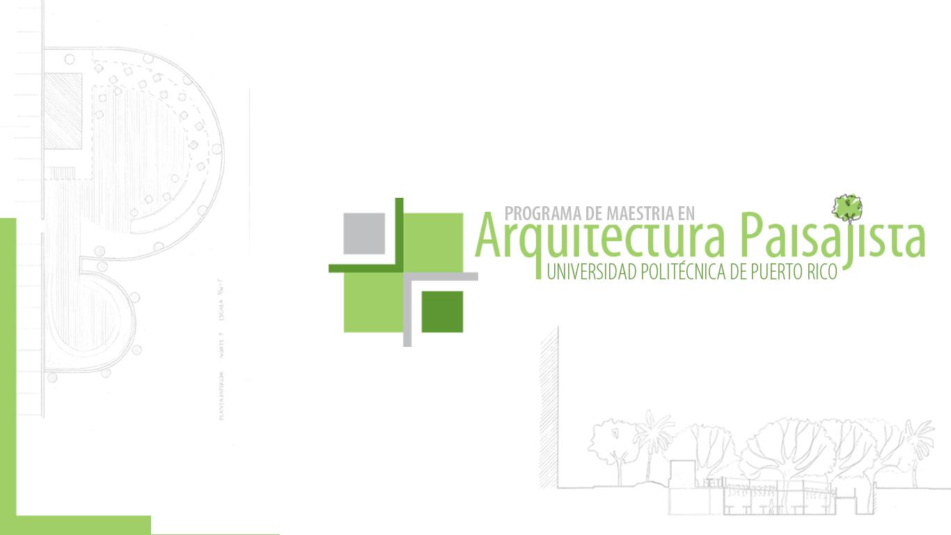 Proyectos programa de arquitectura paisajista Arquitectura politecnica