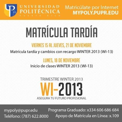 Matricula WI13