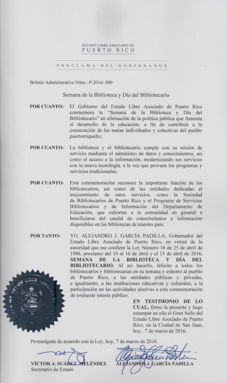 Proclama 001