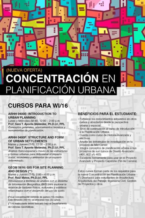 NUEVO: Concentración en Planificacion Urbana ¡Matriculate!