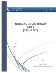 Noticias de seguridad index 1981-1999