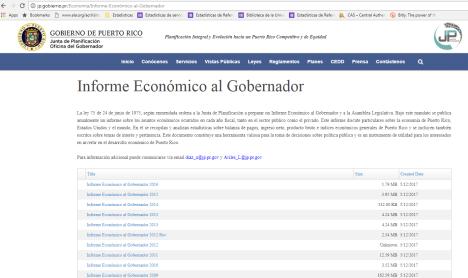 Informe Económico al Gobernador