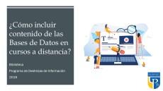 Cómo incluir contenido de las Bases de Datos en cursos a Distancia